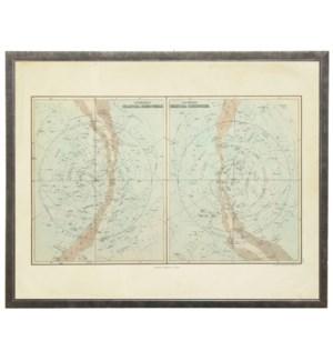 Celestial Hemispheres Map