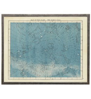 Map of the Stars the North Pole