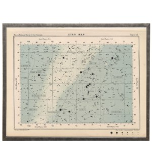 Large rectangle constellation star map 59