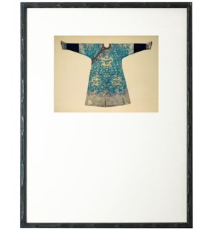 Turquoise Oriental Robe with mat