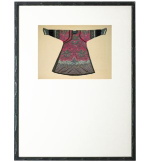 Dark Pink Oriental Robe with mat