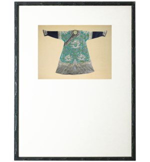 Turquoise and Green Oriental Robe with mat