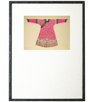 Bright Pink Oriental Robe with mat