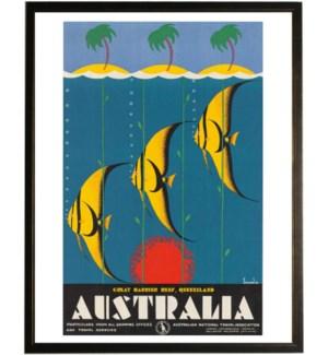 Australia travel poster