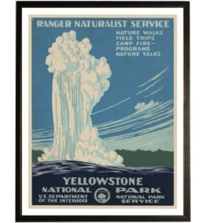Yellowstone travel poster