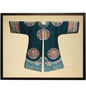 Dark Turquoise and Pink Oriental Robe