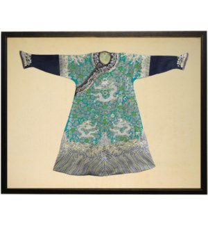 Turquoise and Green Oriental Robe