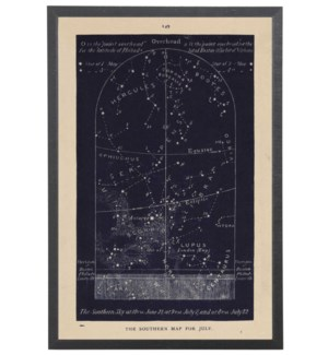 Navy Southern Star Map 149 for July