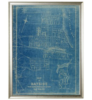 Bayside view navy vintage map