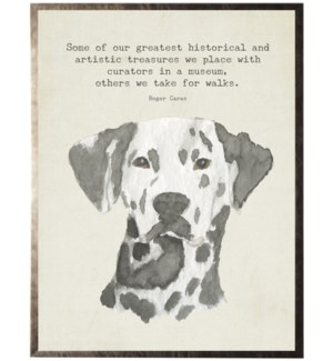 Watercolor Dalmation dog with animal quote