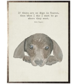 Watercolor brown puppy with animal quote