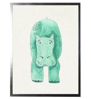 Watercolor hippopotamas