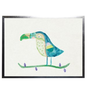 Watercolor Turquoise Toucan