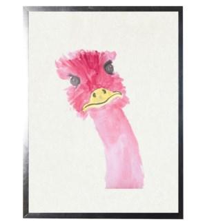 Watercolor Pink Emu