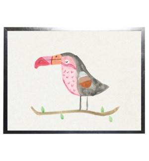 Watercolor Pink Toucan
