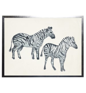 Watercolor zebras