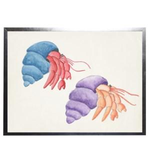 Watercolor hermit crabs