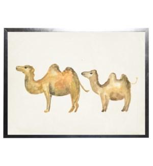 Watercolor camels