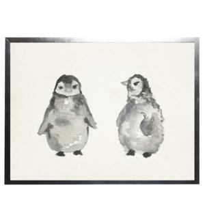 Watercolor penguins