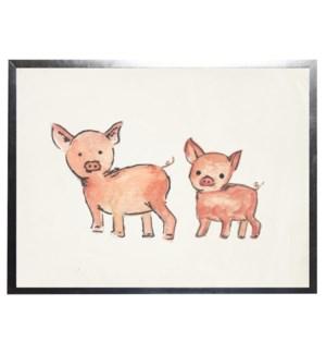 Watercolor piglets