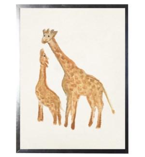 Watercolor giraffes