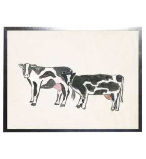 Watercolor cows