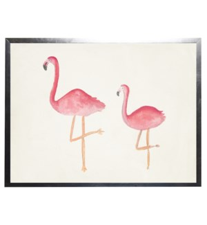 Watercolor flamingos