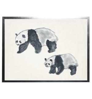 Watercolor panda bears