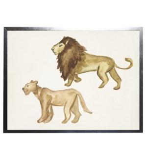 Watercolor lions