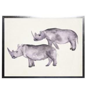 Watercolor rhinos