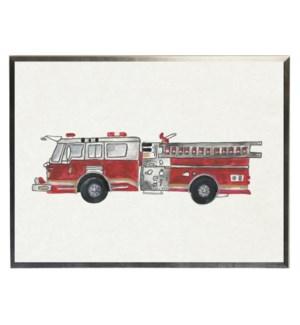 Watercolor Firetruck