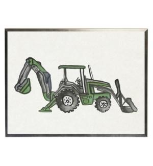 Watercolor Green bulldozer