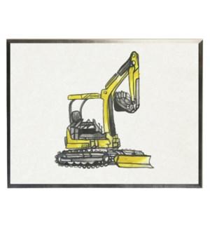 Watercolor Yellow bulldozer