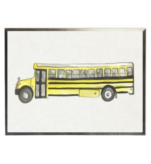 Watercolor Yellow bus