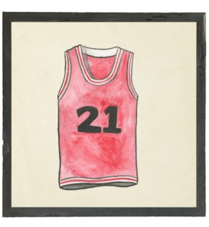 Watercolor Red Jersey