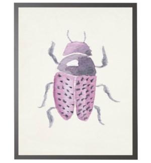 Watercolor purple fat beetle