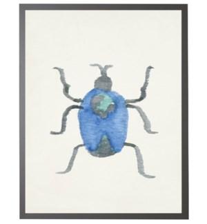 Watercolor blue earth beetle
