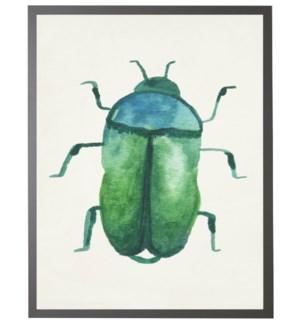Watercolor green/blue earth beetle