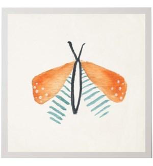 Watercolor orange moth