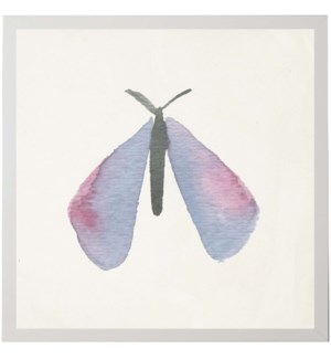 Watercolor lavender and pink moth