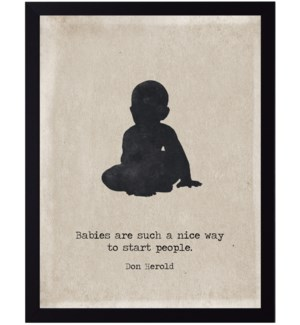 Babies quote on baby silhouette