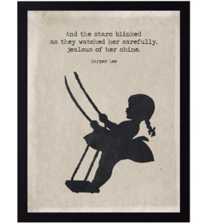 Harper Lee stars quote on swinging girl silhouette