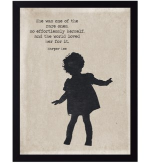 Harper Lee rare ones quote on little girl silhouette