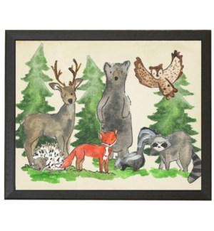 Woodland animals together