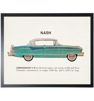 Individual Vintage Nash (blue) car