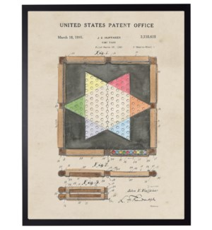 Watercolor Chinese Checkers Patent