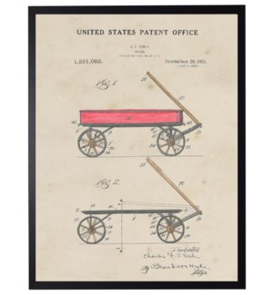 Watercolor Red Wagon Patent