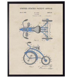 Watercolor Blue Tricycle Patent