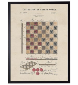 Watercolor Checkers Patent