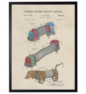 Watercolor Slinky toys Patent
